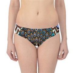 The Peacock Pattern Hipster Bikini Bottoms