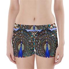 The Peacock Pattern Boyleg Bikini Wrap Bottoms