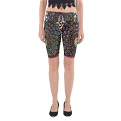 The Peacock Pattern Yoga Cropped Leggings