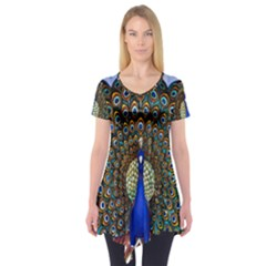 The Peacock Pattern Short Sleeve Tunic