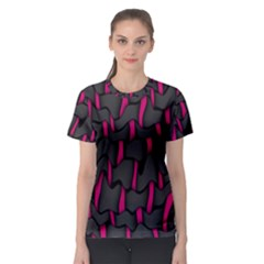 Weave And Knit Pattern Seamless Background Women s Sport Mesh Tee