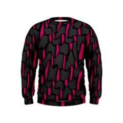 Weave And Knit Pattern Seamless Background Kids  Sweatshirt