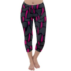 Weave And Knit Pattern Seamless Background Capri Winter Leggings