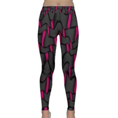 Weave And Knit Pattern Seamless Background Classic Yoga Leggings