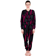 Weave And Knit Pattern Seamless Background OnePiece Jumpsuit (Ladies)
