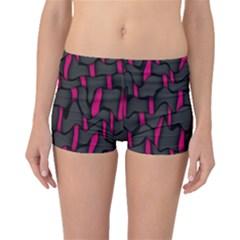Weave And Knit Pattern Seamless Background Boyleg Bikini Bottoms