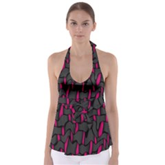 Weave And Knit Pattern Seamless Background Babydoll Tankini Top