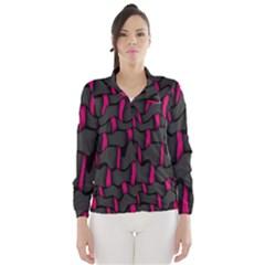 Weave And Knit Pattern Seamless Background Wind Breaker (Women)