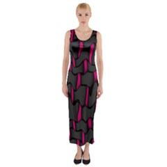 Weave And Knit Pattern Seamless Background Fitted Maxi Dress