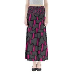 Weave And Knit Pattern Seamless Background Maxi Skirts