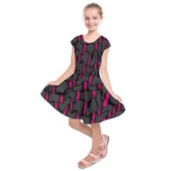 Weave And Knit Pattern Seamless Background Kids  Short Sleeve Dress