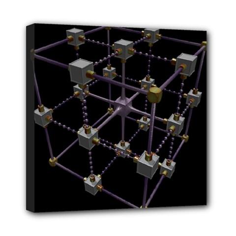 Grid Construction Structure Metal Mini Canvas 8  x 8