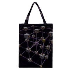 Grid Construction Structure Metal Classic Tote Bag