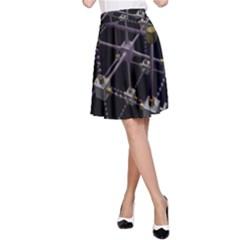 Grid Construction Structure Metal A-Line Skirt