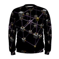 Grid Construction Structure Metal Men s Sweatshirt