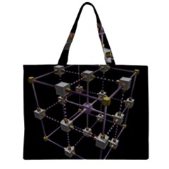 Grid Construction Structure Metal Large Tote Bag