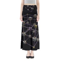 Grid Construction Structure Metal Maxi Skirts