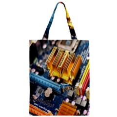 Technology Computer Chips Gigabyte Zipper Classic Tote Bag