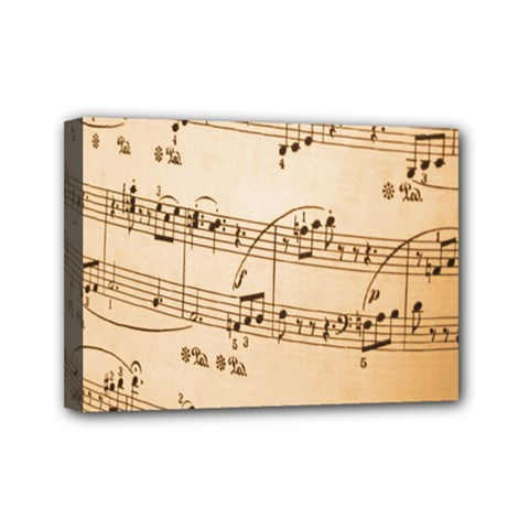 Music Notes Background Mini Canvas 7  x 5