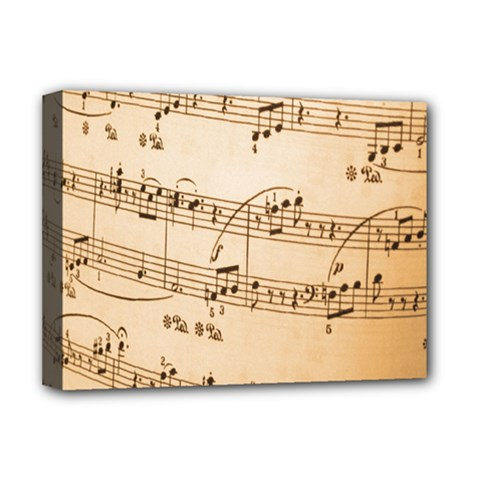 Music Notes Background Deluxe Canvas 16  x 12