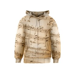 Music Notes Background Kids  Zipper Hoodie