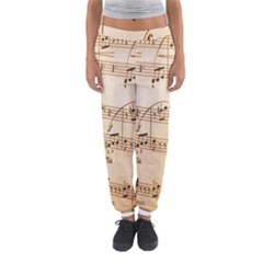 Music Notes Background Women s Jogger Sweatpants