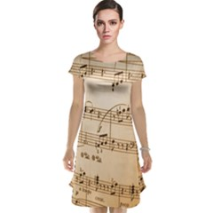Music Notes Background Cap Sleeve Nightdress