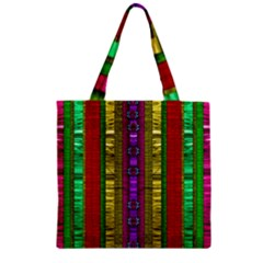 A Gift From The Rainbow In The Sky Zipper Grocery Tote Bag