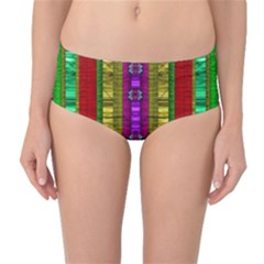 A Gift From The Rainbow In The Sky Mid Waist Bikini Bottoms