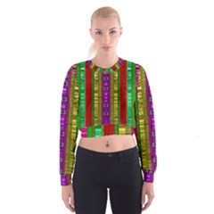 A Gift From The Rainbow In The Sky Women s Cropped Sweatshirt