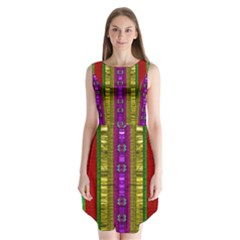 A Gift From The Rainbow In The Sky Sleeveless Chiffon Dress