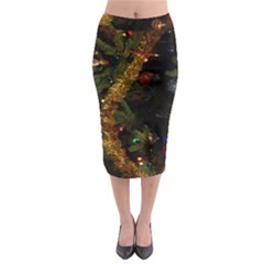 Night Xmas Decorations Lights  Midi Pencil Skirt
