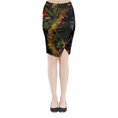 Night Xmas Decorations Lights  Midi Wrap Pencil Skirt