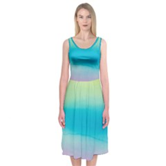 Watercolour Gradient Midi Sleeveless Dress