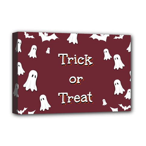 Halloween Free Card Trick Or Treat Deluxe Canvas 18  x 12