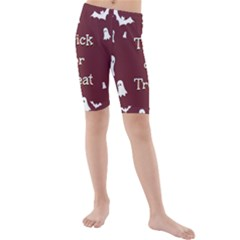 Halloween Free Card Trick Or Treat Kids  Mid Length Swim Shorts