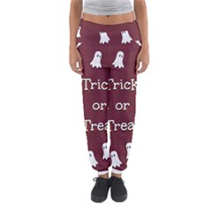 Halloween Free Card Trick Or Treat Women s Jogger Sweatpants