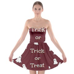 Halloween Free Card Trick Or Treat Strapless Bra Top Dress