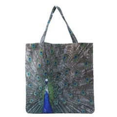 Peacock Four Spot Feather Bird Grocery Tote Bag
