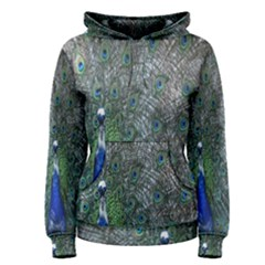Peacock Four Spot Feather Bird Women s Pullover Hoodie