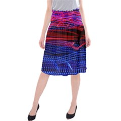 Lights Abstract Curves Long Exposure Midi Beach Skirt
