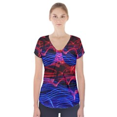 Lights Abstract Curves Long Exposure Short Sleeve Front Detail Top