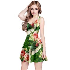 Floral Collage Reversible Sleeveless Dress
