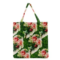 Floral Collage Grocery Tote Bag