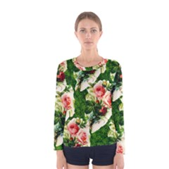 Floral Collage Women s Long Sleeve Tee