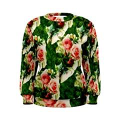 Floral Collage Women s Sweatshirt