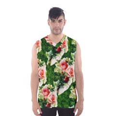 Floral Collage Men s Basketball Tank Top