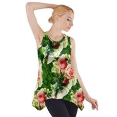 Floral Collage Side Drop Tank Tunic