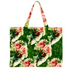 Floral Collage Large Tote Bag