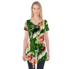 Floral Collage Short Sleeve Tunic